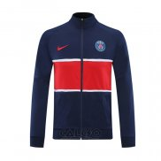 Giacca Cappuccio Paris Saint-Germain 2020-2021 Blu